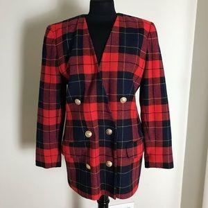 Red Plaid Vintage Jacket